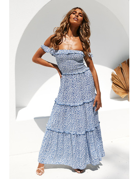 Love To Share Maxi Dress Blue by Hello Molly