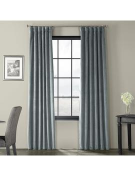 Blackout Signature Natural Grey Blackout Velvet Curtain   50 In. W X 96 In. L (1 Panel) by Exclusive Fabrics & Furnishings