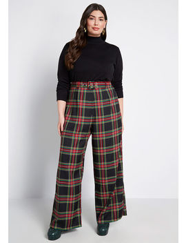 Mod Cloth X Collectif All Squared Away Plaid Pants by Collectif