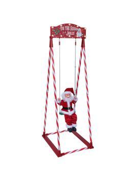 56 In. Swinging Santa by Mr. Christmas