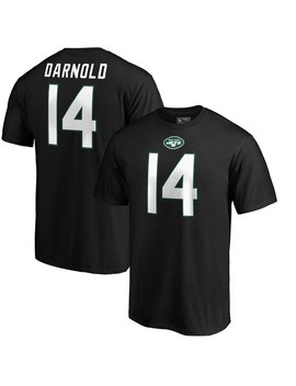 Sam Darnold New York Jets Nfl Pro Line By Fanatics Branded Authentic Stack Nfl Player Name & Number T Shirt   Black by Nfl Pro Line By Fanatics Branded