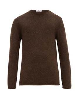 Crew Neck Alpaca Wool Sweater by Inis Meáin