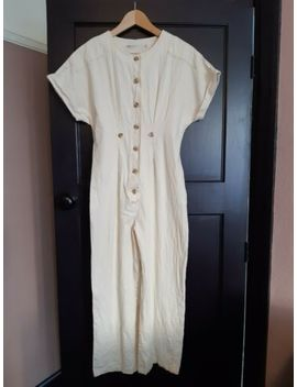 Asos Cream Linen Jumpsuit. Size 8. Worn Once by Asos