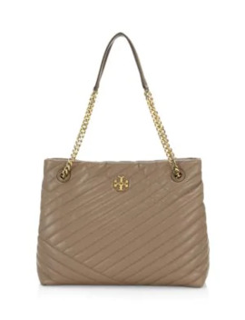 Kira Chevron Leather Tote by Tory Burch