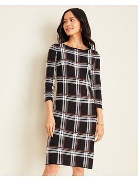 Petite Plaid Sweater Dress by Ann Taylor