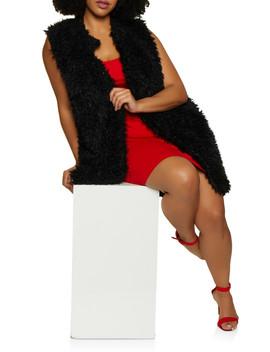 Plus Size Faux Fur Vest | 3884038340106 by Rainbow