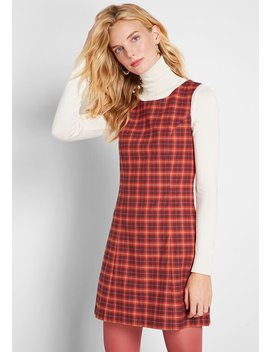 Prep School Cool Plaid Shift Dress by Princess Highway
