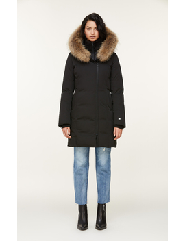 Salma Classic Down Coat With Removable Natural Fur by Soia & Kyo
