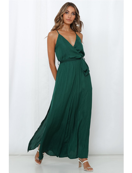 Raise Your Standards Jumpsuit Forest Green by Hello Molly