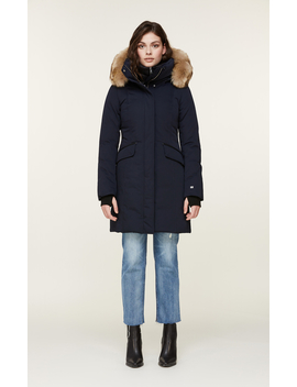 Emele Thermolite Coat With Faux Fur And Puffy Bib by Soia & Kyo