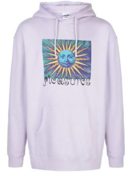 Psychedelic Sun Print Hoodie by Pleasures