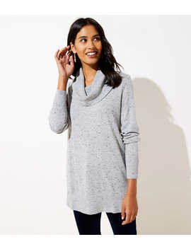 Flecked Luxe Knit Cowl Neck Tunic Sweater by Loft
