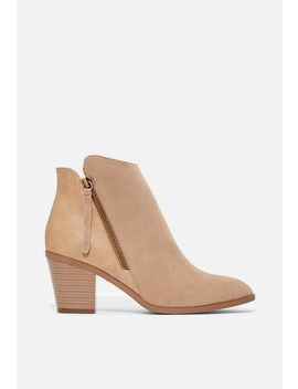 Keke Blocked Heel Bootie by Justfab