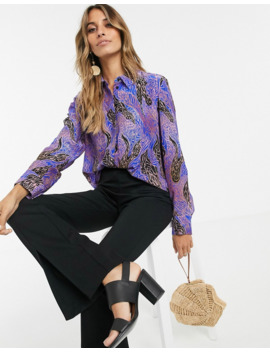&Amp; Other Stories Abstract Zebra Print Shirt In Multi by & Other Stories
