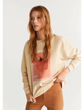 Photo Print Sweatshirt by Mango