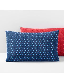 Embroidered Dot Lumbar Pillow Cover by West Elm