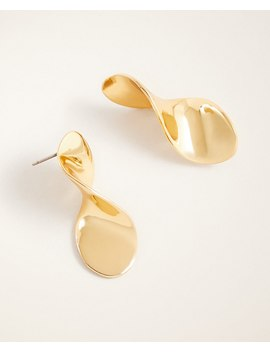 Twisted Metal Drop Earrings by Ann Taylor