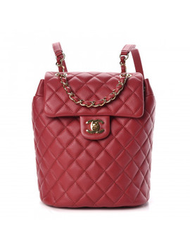 Chanel Calfskin Quilted Mini Urban Spirit Backpack Red by Chanel