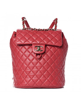 Chanel Lambskin Quilted Small Urban Spirit Backpack Dark Pink by Chanel