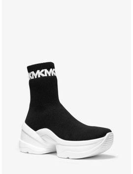 Olympia Stretch Knit Logo Trim Sock Sneaker by Michael Michael Kors