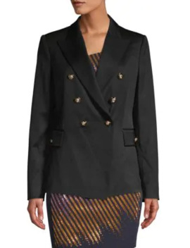 Double Breasted Stretch Wool Jacket by Versace