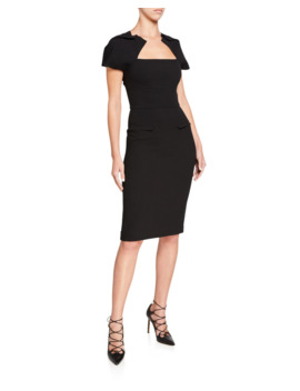 Myrtha Double Face Wool Crepe Dress by Roland Mouret