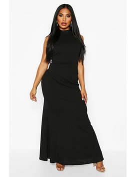 High Neck Strappy Back Maxi Dress by Boohoo