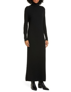 Cassandra Long Sleeve Cashmere Turtleneck Dress by Nili Lotan