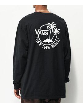Vans Surf Palm Black Long Sleeve T Shirt by Vans