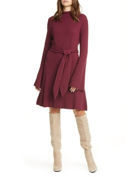Abhaya Long Sleeve Sweater Dress by Nanushka