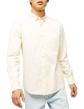 Oxford Skinny Fit Stretch Cotton Button Down Shirt by Topman