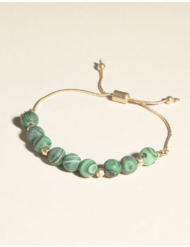West Of Melrose Malachite Beaded Bracelet by West Of Melrose