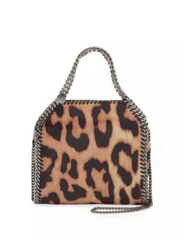 Falabella Mini Shaggy Deer Leopard Tote Bag by Stella Mc Cartney