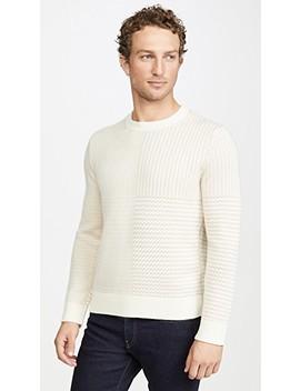 Cashmere Shadow Plaid Sweater by Club Monaco