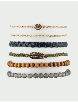 Full Tilt 6 Pack Feather & Braid Bracelets by Full Tilt