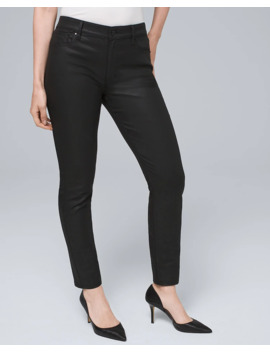Curvy Fit High Rise Coated Skinny Jeans by Whbm