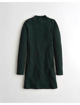 Ribbed Knit Mockneck Dress by Hollister