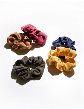 Full Tilt 5 Piece Corduroy Scrunchies by Full Tilt