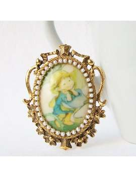 Vintage Cameo Brooch, Vintage Cameo Pearl Brooch, Vintage Mother's Day Gift by Etsy