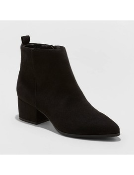 Women's Valerie Microsuede City Ankle Bootie   A New Day™ by A New Day