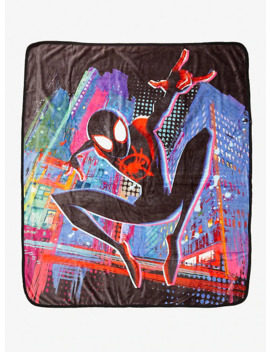 Marvel Spider Man: Into The Spider Verse Miles Morales Throw Blanket by Hot Topic