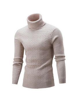<Span><Span>Men Winter Warm Sweater Slim Fit Knitted High Neck Pullover Jumper Turtleneck Uk</Span></Span> by Ebay Seller