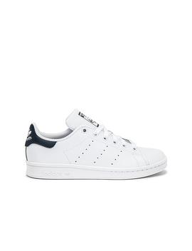 Stan Smith Sneaker In White & Dark Blue by Adidas Originals