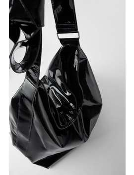 Faux Patent Leather Xxl Maxi Bucket Bag by Zara