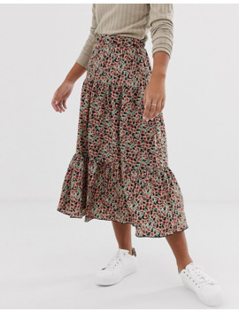 Only Petite Floral Tiered Maxi Skirt by Only's
