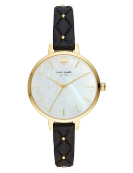 Women's Metro Leather Strap Watch, 34mm by Kate Spade New York