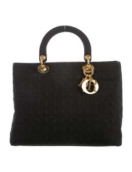 Large Nylon Cannage Lady Dior by Christian Dior