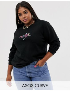 Asos Design X Glaad&Amp; Curve Oversized Sweatshirt With Embroidery by Asos