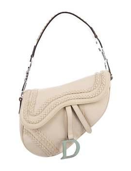 Leather Braid Trim Saddle Bag by Christian Dior