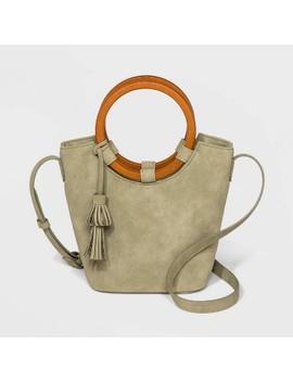 Wood Handle Bucket Crossbody Bag   Universal Thread™ by Universal Thread
